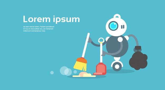 Moderner roboter-ausgedehnter boden-künstliches intelligenz-technologie-konzept