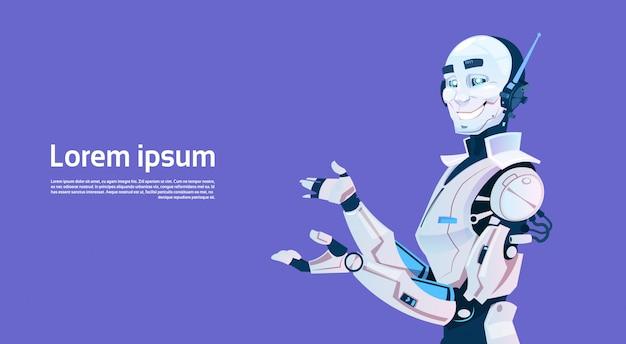 Moderner roboter, futuristische technologie für künstliche intelligenz