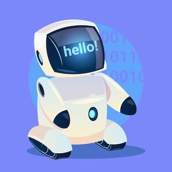 Moderner Roboter sagt Hallo