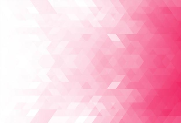 Moderner rosa geometrischer formenhintergrund