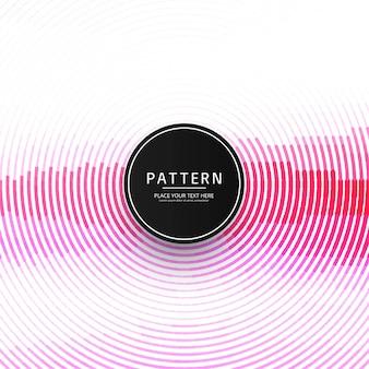 Moderner rosa kreislinienmusterhintergrund