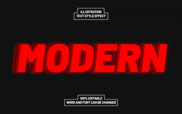 Moderner roter textstil-effekt