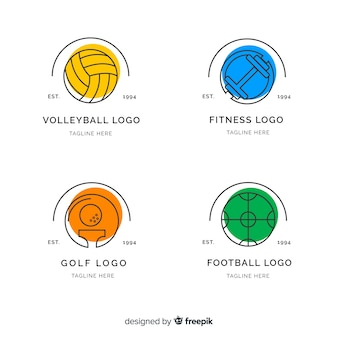Moderner satz abstrakte sportlogos