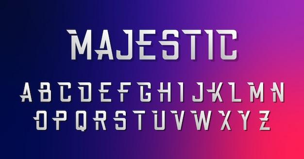 Moderner scharfer städtischer guss-alphabet-satz