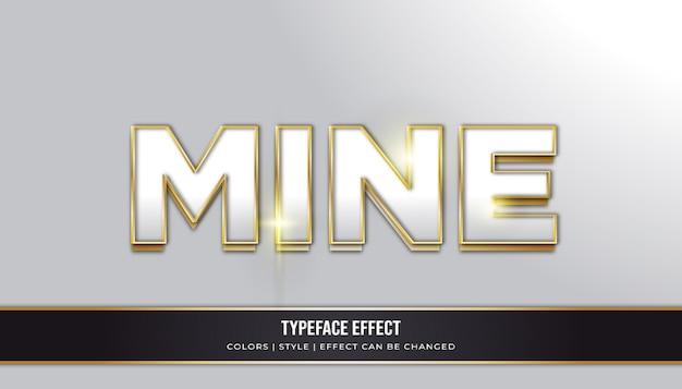 Moderner schrifttext-effekt