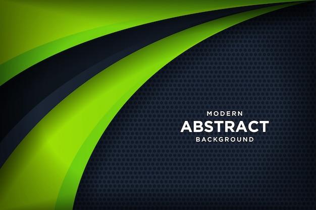 Moderner schwarzer hintergrund mit überlappungseffekt 3d