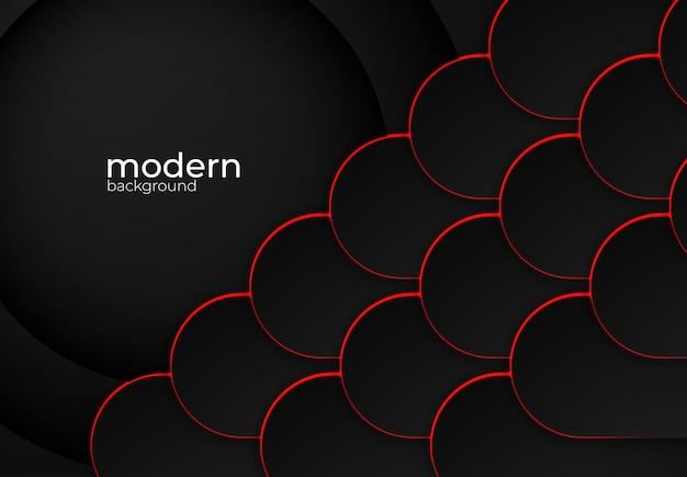 Moderner schwarzer vektorhintergrund