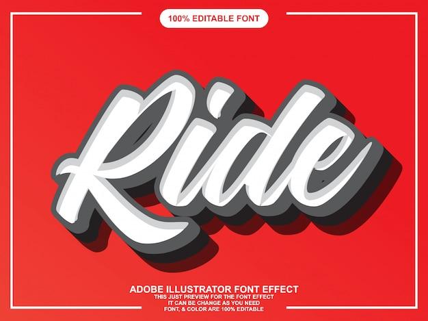 Moderner skript editierbarer typografie-font-effekt