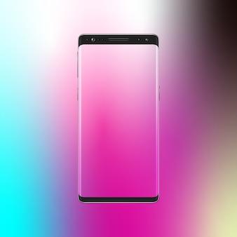 Moderner smartphone auf steigunghintergrund