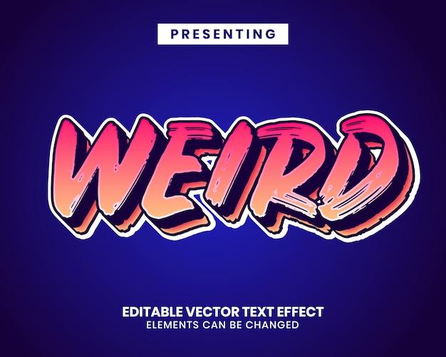Moderner spieletitel mit bearbeitbarem texteffekt mit lebendigem pinselstrich