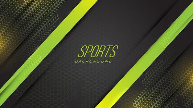 Moderner sport-neon-gaming-abstrakter hintergrund mit geometrischen formen steigung