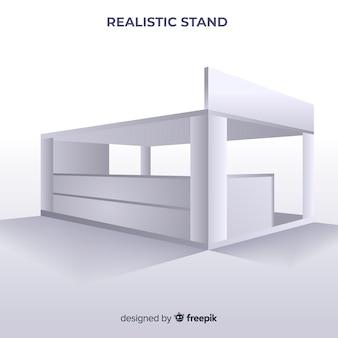 Moderner stand mit realistischem design