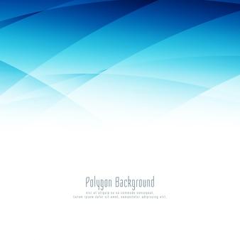 Moderner stilvoller blauer polygonauslegunghintergrund