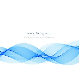 Moderner stilvoller blauer wellenhintergrund