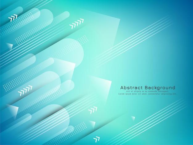 Moderner stilvoller futuristischer geometrischer pfeilhintergrundvektor