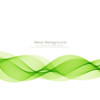 Moderner stilvoller grüner wellenhintergrund