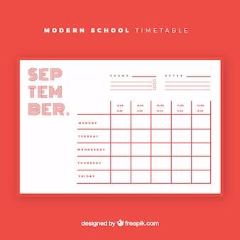 Moderner stundenplan