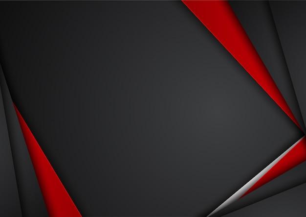 Moderner technologiedesign des abstrakten metallischen roten schwarzen rahmenplans