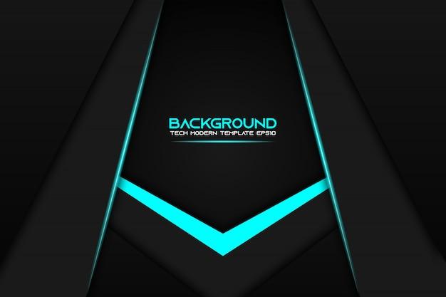 Moderner technologiedesign-schablonenhintergrund des abstrakten metallischen rahmenplans des blauen schwarzen