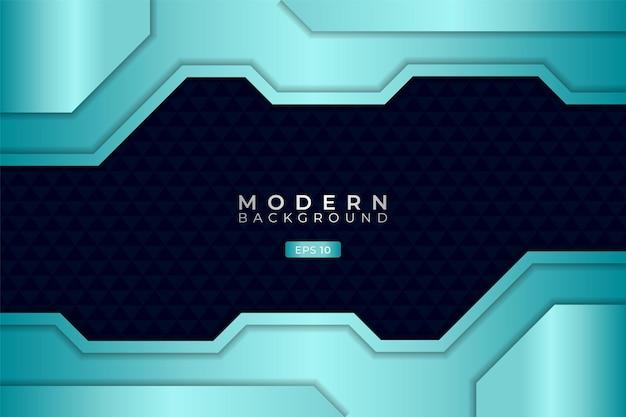 Moderner technologiehintergrund premium futuristic 3d shiny light blue