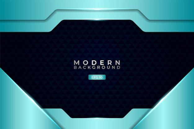 Moderner technologiehintergrund premium futuristisches 3d glänzendes hellblaues hexagon