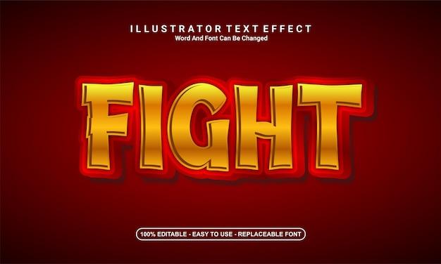 Moderner texteffekt-designkampf