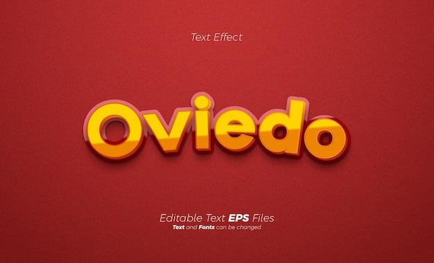 Moderner texteffekt mit gelber und roter farbe