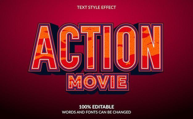 Moderner textstileffekt für actionfilme