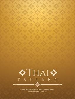 Moderner thailändischer hintergrund