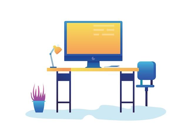 Moderner tisch und stühle für effektives arbeitsdesign.