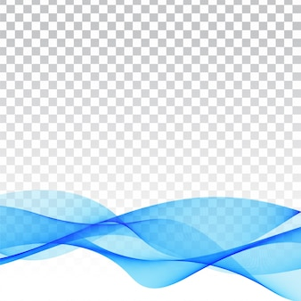 Moderner transparenter hintergrund der blauen welle