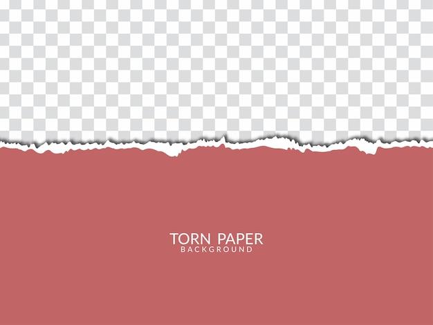 Moderner transparenter hintergrundvektor der zerrissenen papierart