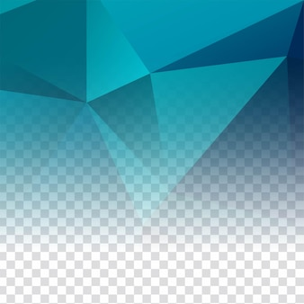 Moderner transparenter polygonaler dekorativer hintergrund