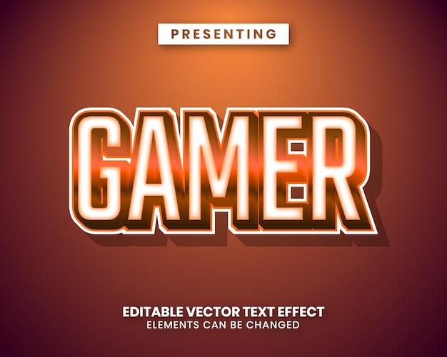 Moderner trendiger bearbeitbarer texteffekt