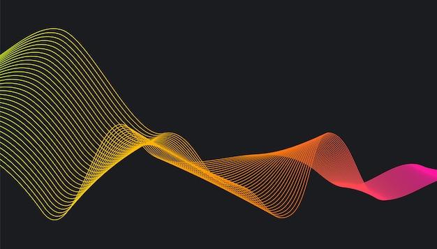 Moderner trendiger hintergrund mit dynamischen wellenformen des gradienten