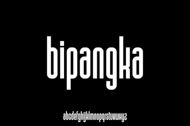 Moderner und eleganter alphabet-schriftvektor