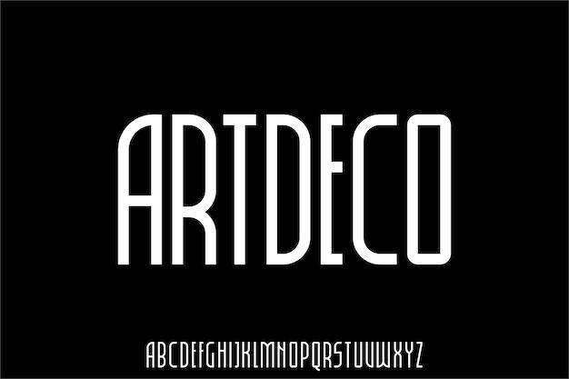 Moderner und urbaner alphabet-schriftvektor
