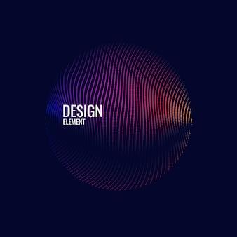 Moderner vektorzusammenfassungshintergrund mit farbigen linien. illustration passend zum design