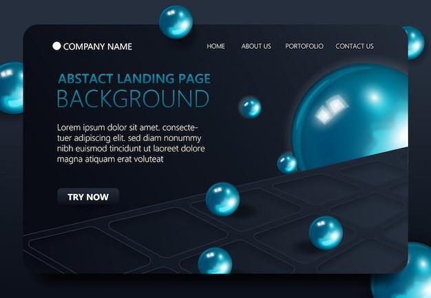 Moderner website-landing-page-hintergrund