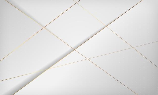 Moderner weißer abstrakter hintergrund elegantes konzeptdesign mit goldener liniendekoration
