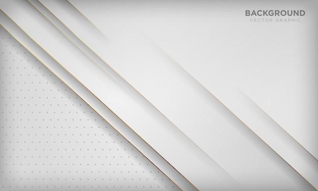 Moderner weißer abstrakter hintergrund mit goldener linie