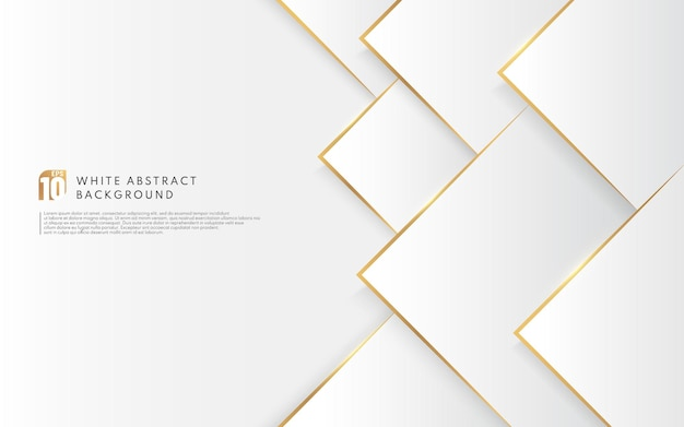 Moderner weißer dreieckhintergrund mit goldenem linieneffekt