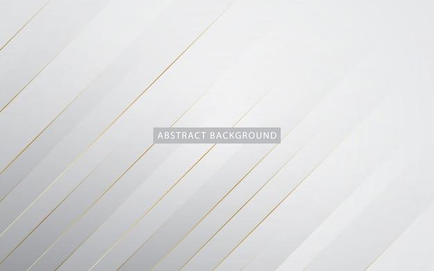 Moderner weißer hintergrund mit goldenem listeneffekt