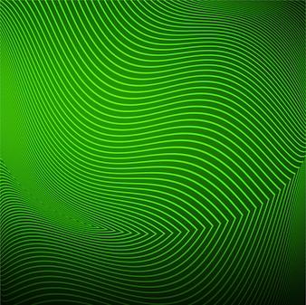 Moderner Wellenhintergrundvektor der grünen Zeile