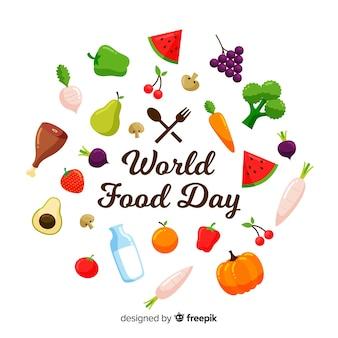 Moderner Weltnahrungsmitteltageshintergrund