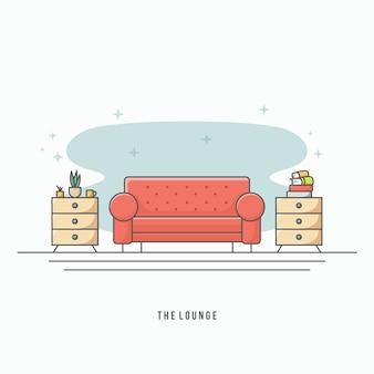 Moderner wohnzimmervektor