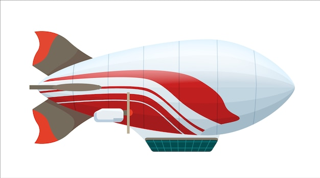 Moderner zeppelin lokalisierte ikone