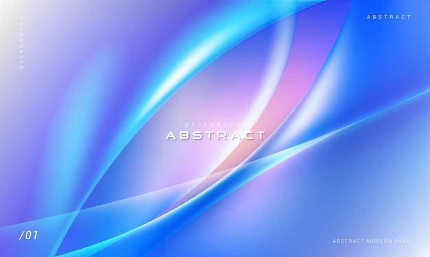 Modernes abstraktes 3d bewegt hintergrund wellenartig