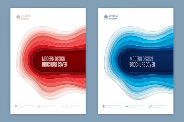 Modernes abstraktes design der abdeckung 3d
