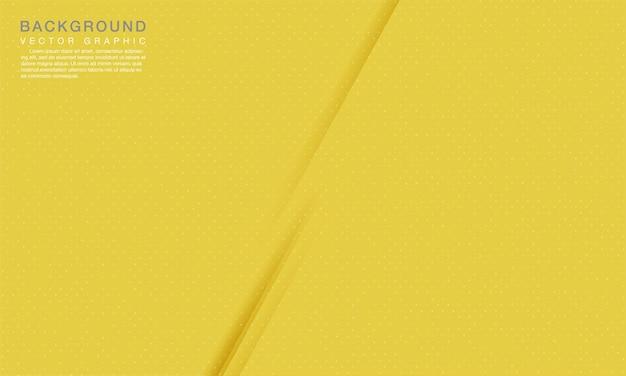 Modernes abstraktes gelbes hintergrundkonzept mit punktdekoration.